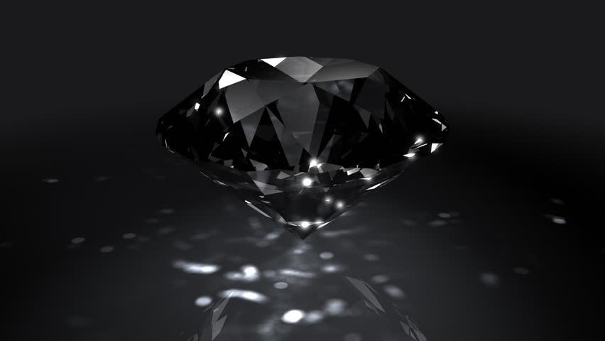 black diamond, representing black in nature, black stones