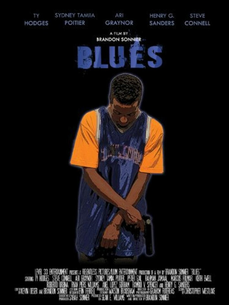 colors in movie titles, blues 2008 poster