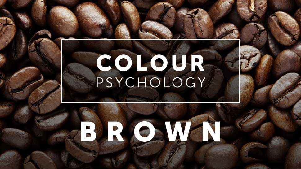 Coffee ground, presenting brown color psychology