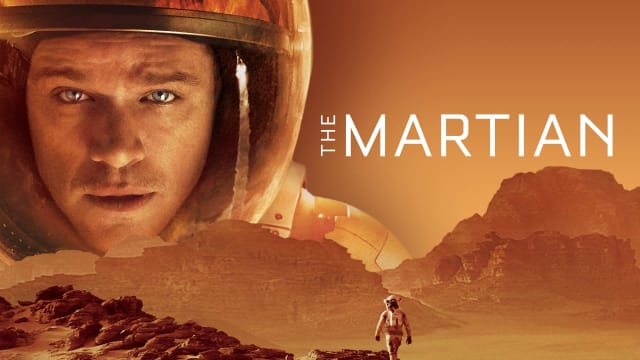 The Martian movie poster, representing brown color in cinema and movies