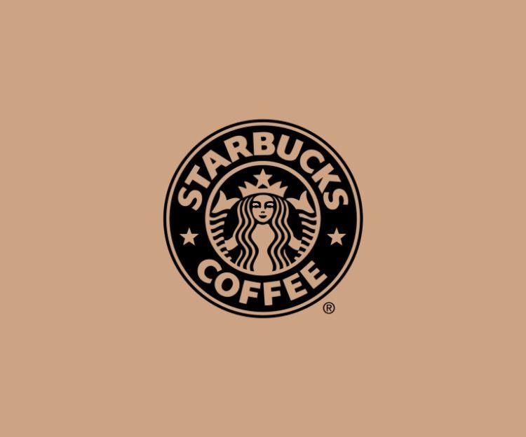 Brown color Starbucks logo, representing brown in marketing