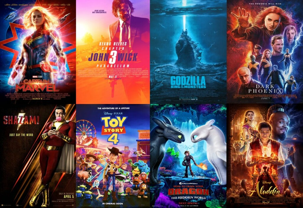 color in film, different movie posters