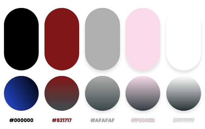 black color palette by Dopely color palette generator