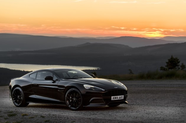 black car in the sunset