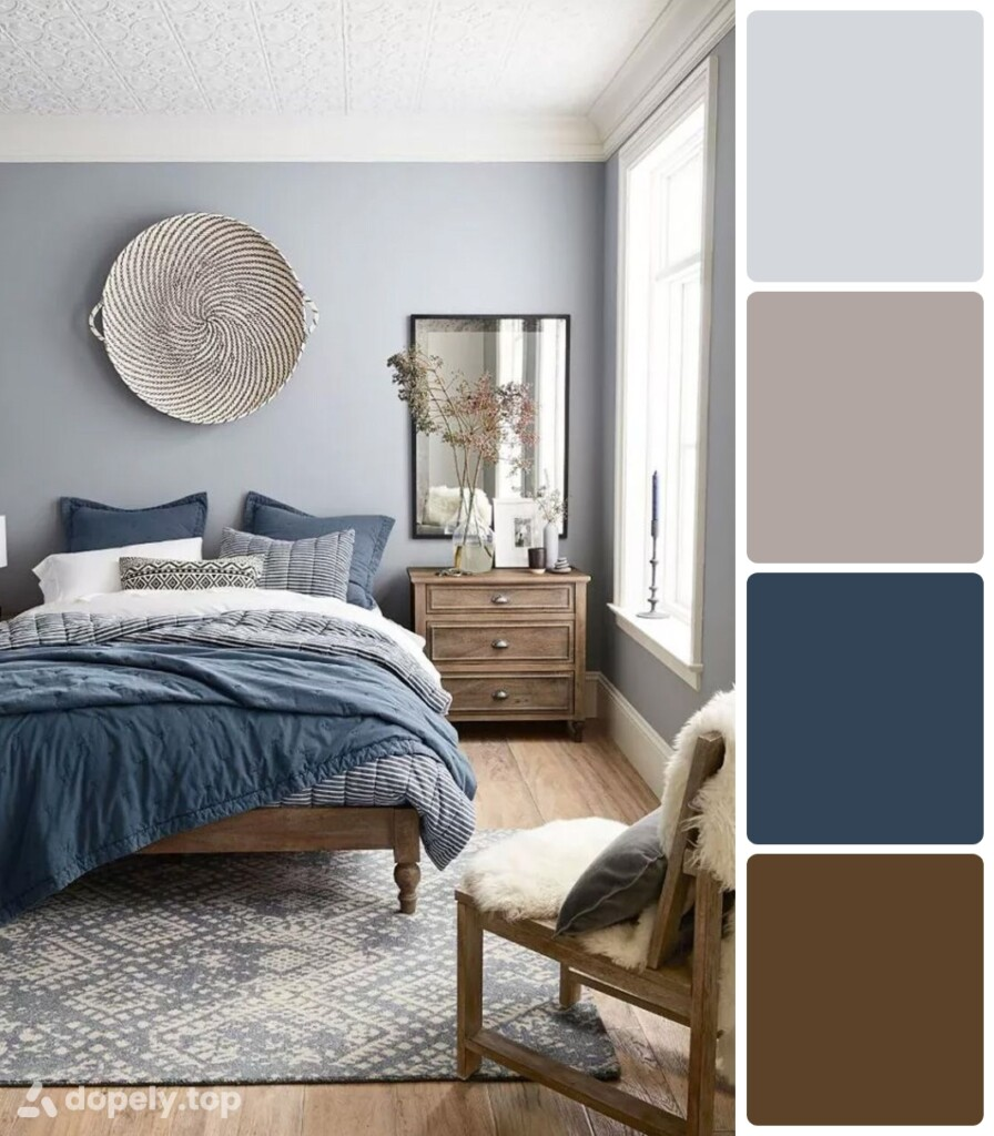 the use of blue in decoration of the bedroom blue pillows and blue walls and blue blankets