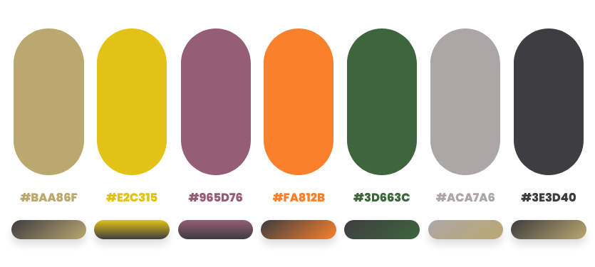 fall color palette by Dopely color palette generator