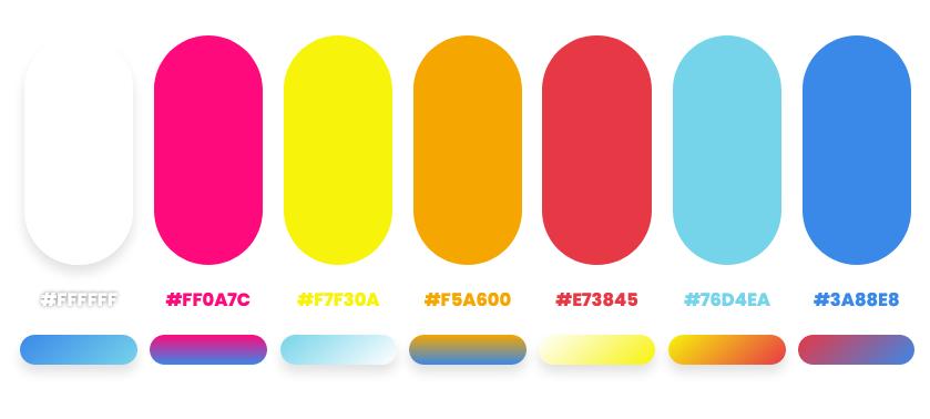 summer color palette by Dopely color palette generator