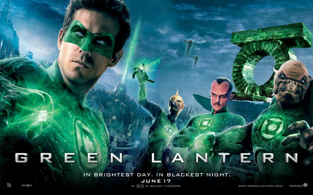 colors in movie titles, green lantern movie poster 2011