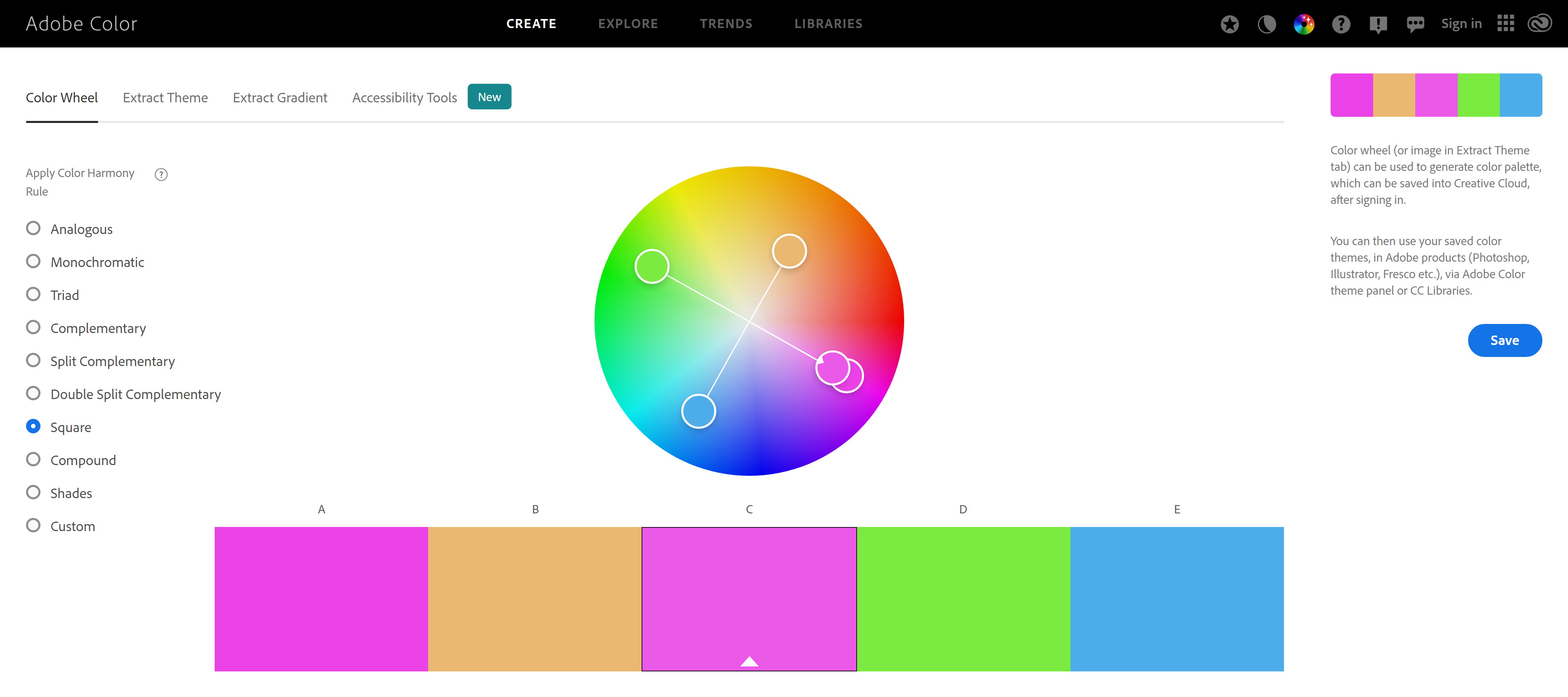 Adobe Colors Free Online Color Wheel Tool