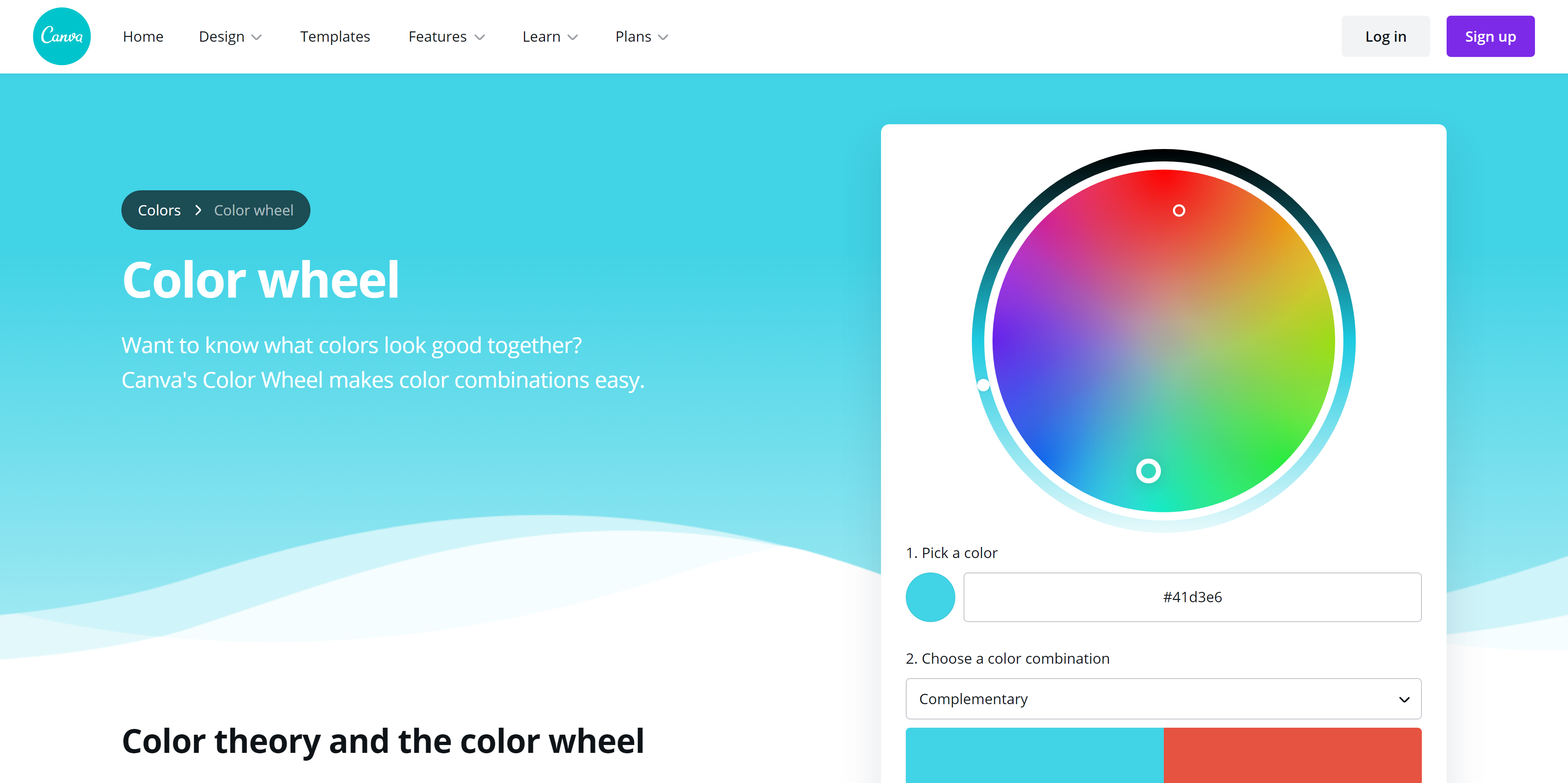 Canva Free Online Color Wheel Tool