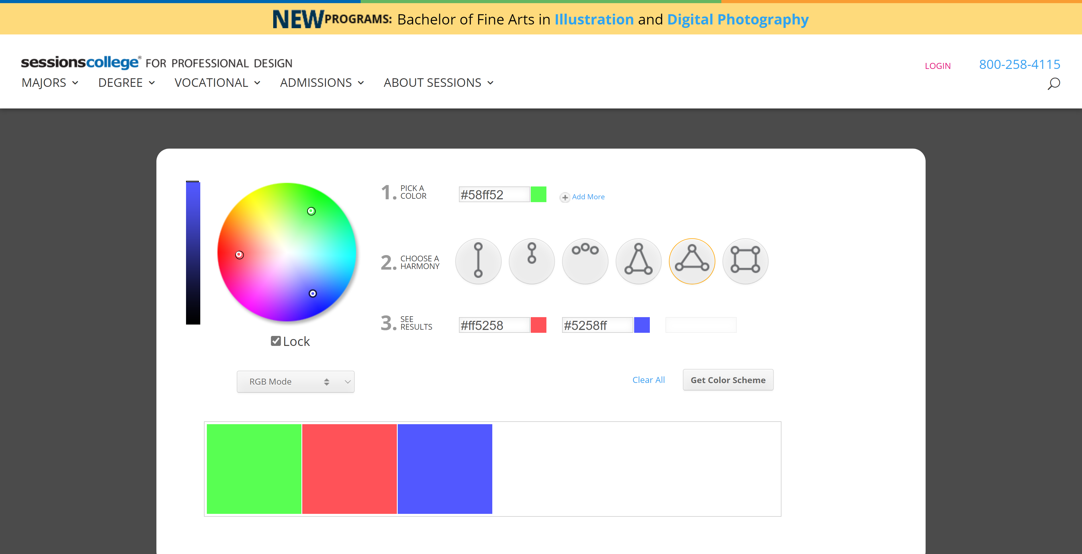 Session Collage Free Online Color Wheel Tool