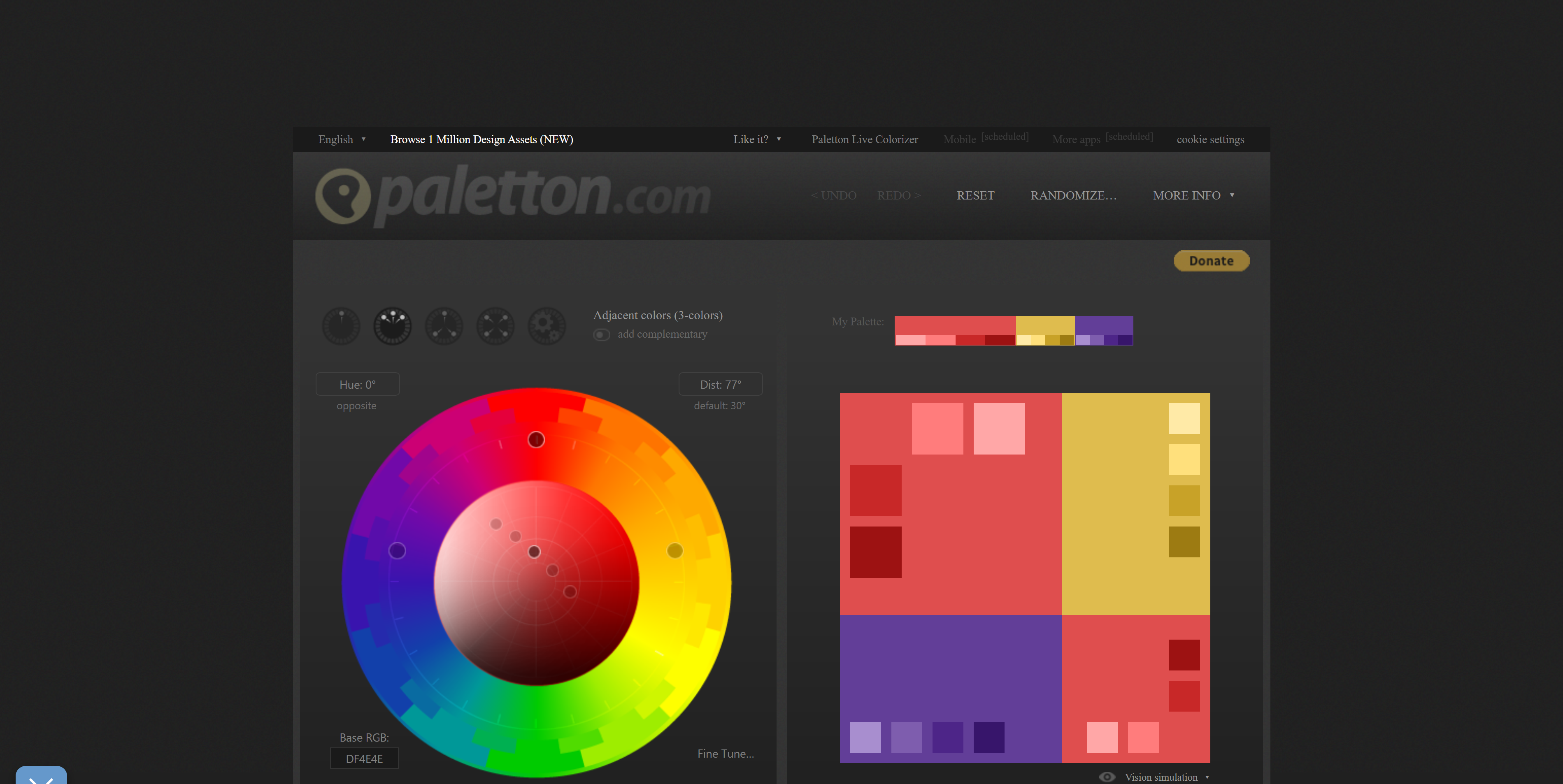 Palleton Free Online Color Wheel Tool