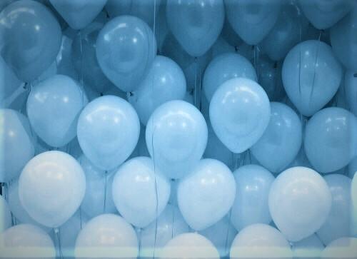 Blue color balloon gradients