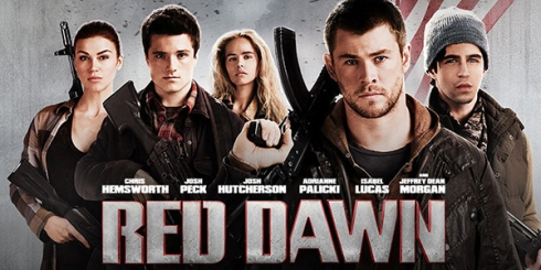 colors in movie titles, red dawn 2012 movie poster