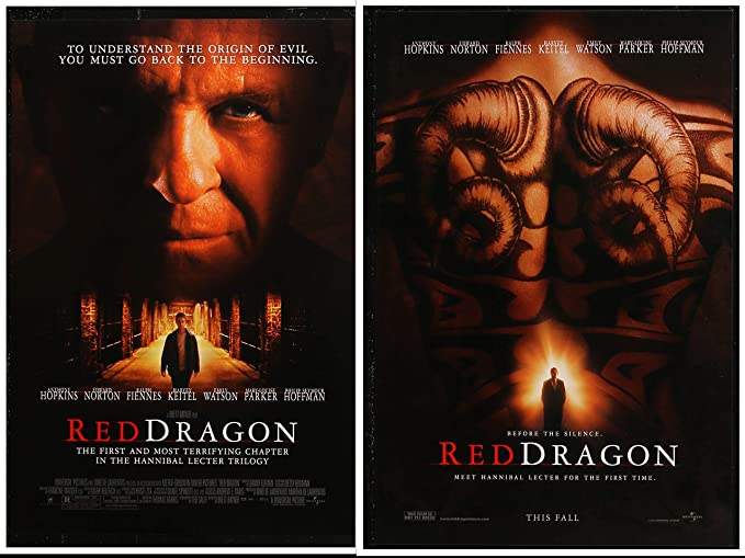 colors in movie titles, red dragon movie poster