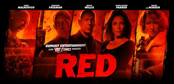 colors in movie titles, red movie poster, movie casts