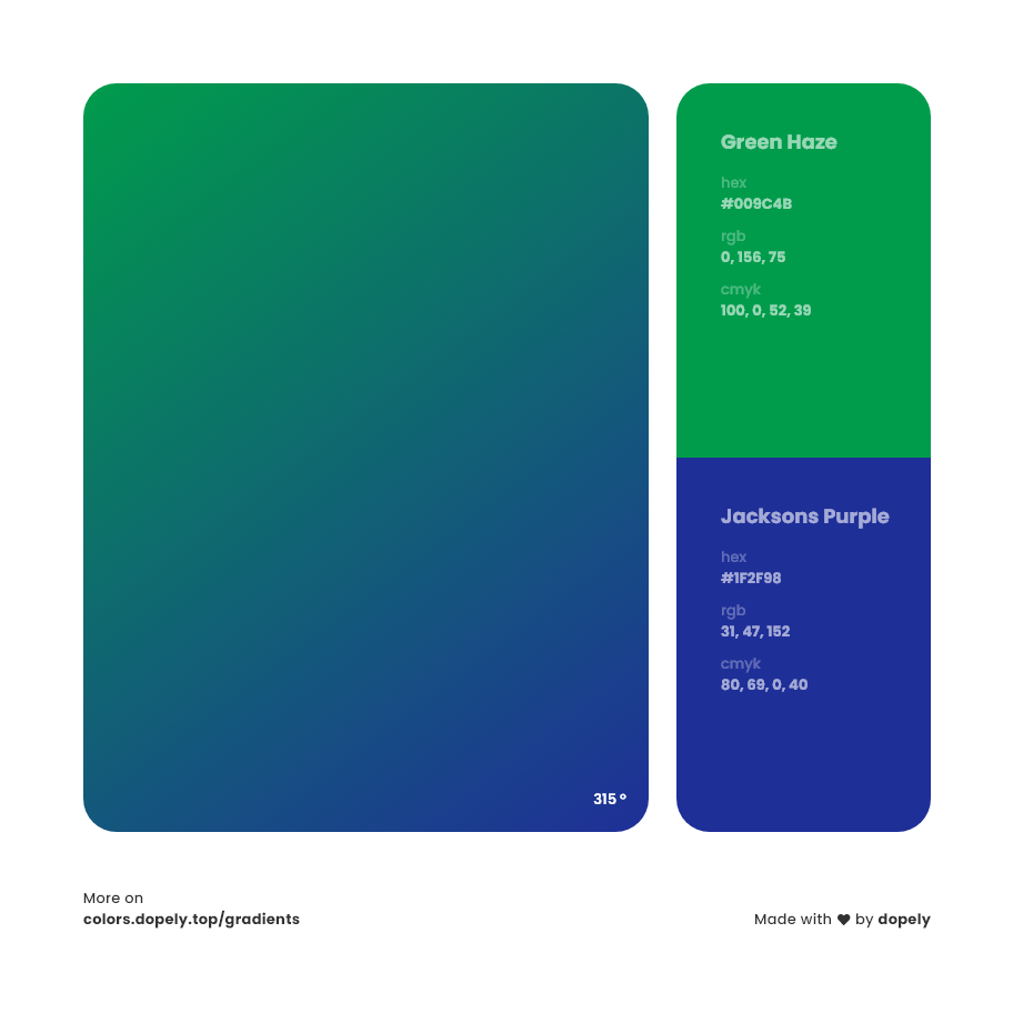 jacksons purple to mint Green haze Inspirations with Names & Codes, RGB, CMYK& Hex code