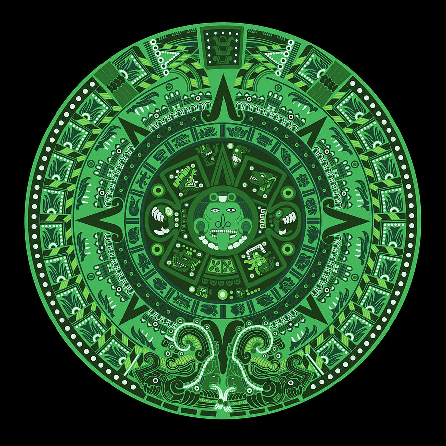 the symbol of the god of the west in Mexican Aztec culture is green.
