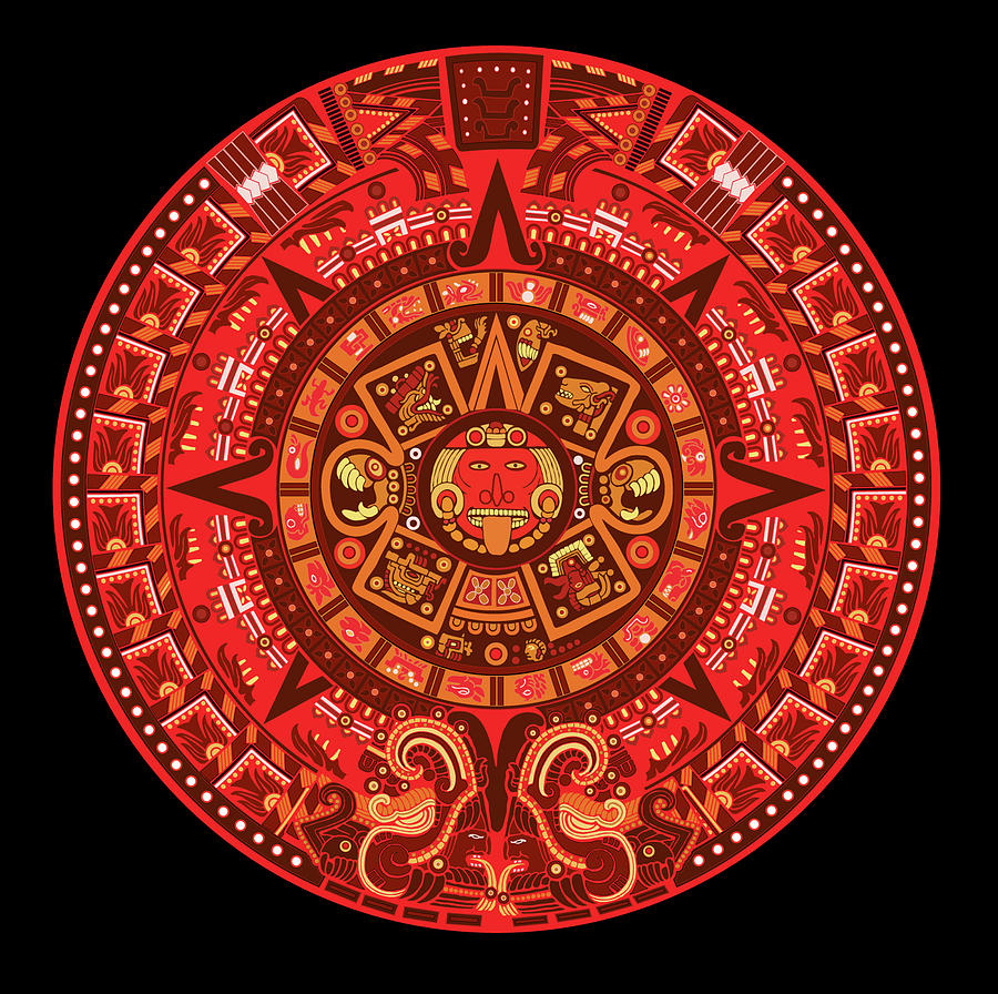 the symbol of the god of the east in Mexican Aztec culture is red.