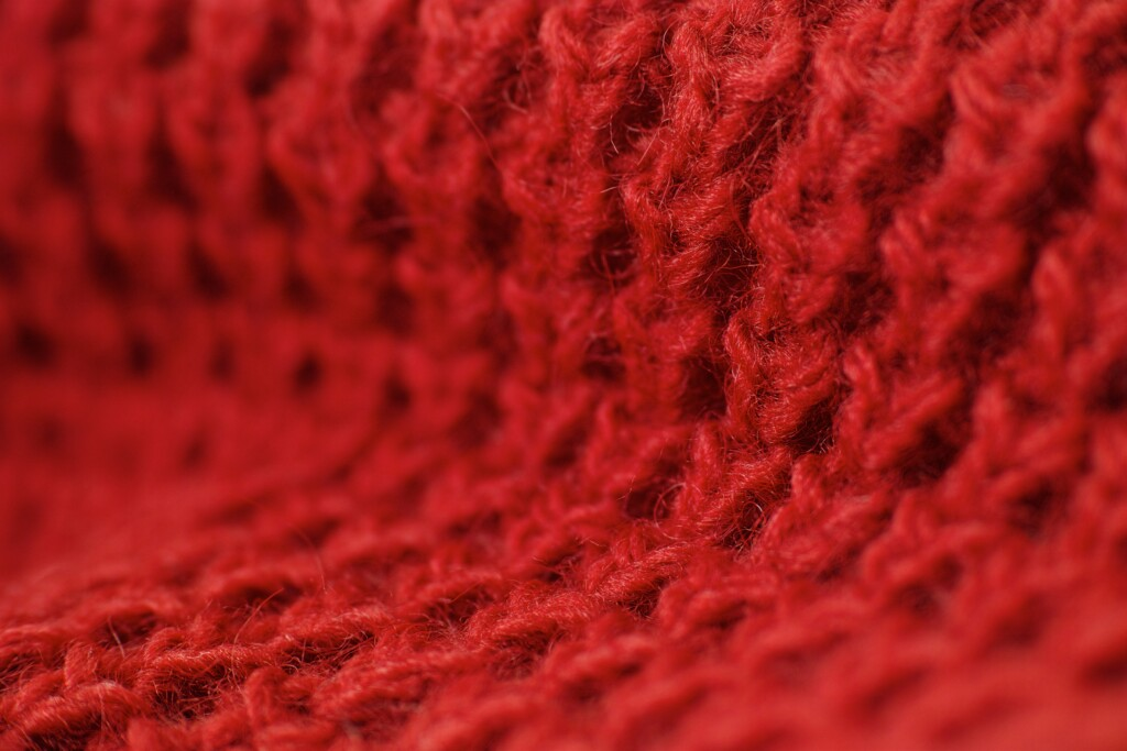 picture of red knitwear