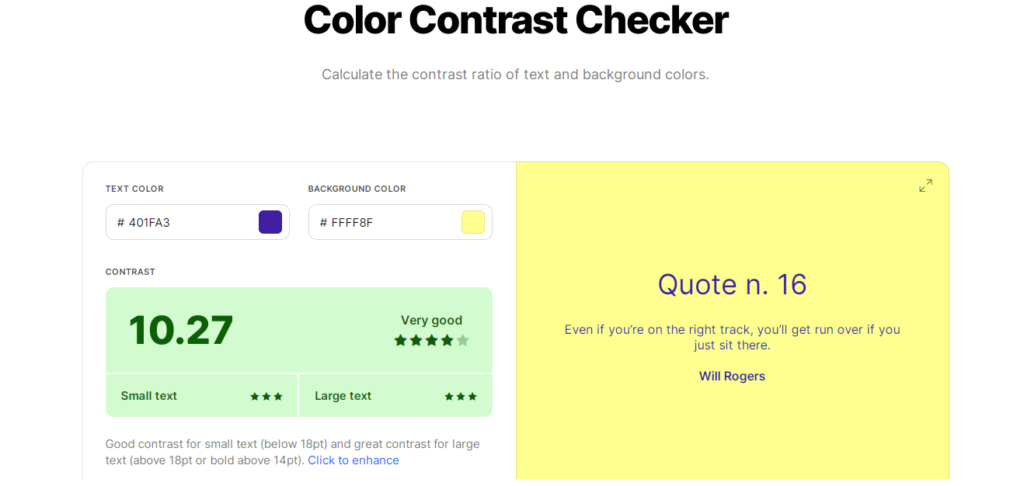 Coolors Free Online Contrast Checker Tool