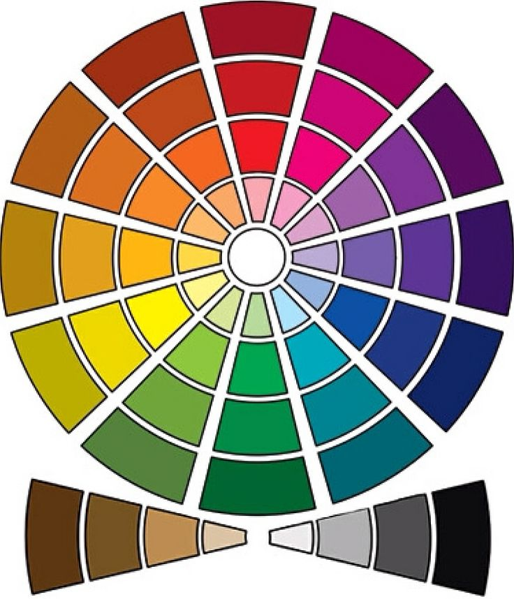 color wheel to show colors that make it easier to choose accent colors.