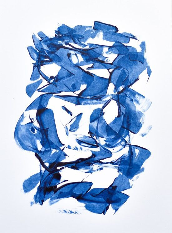 Abstract Art Prussian Blue in art