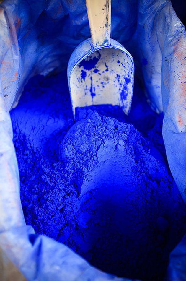 Indigo blue material