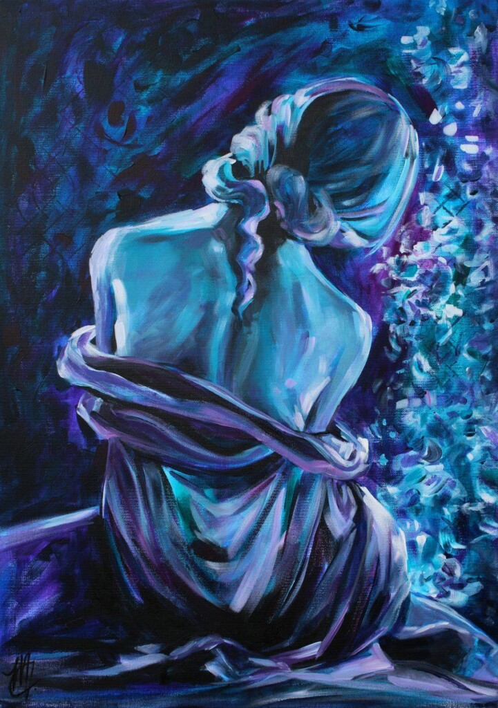 Midnight by Monica Callaghan, Blue in art