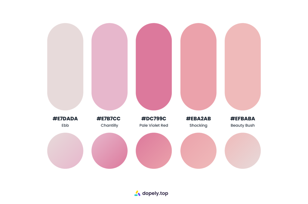 creamy and sugary color palette by Dopely color palette generator