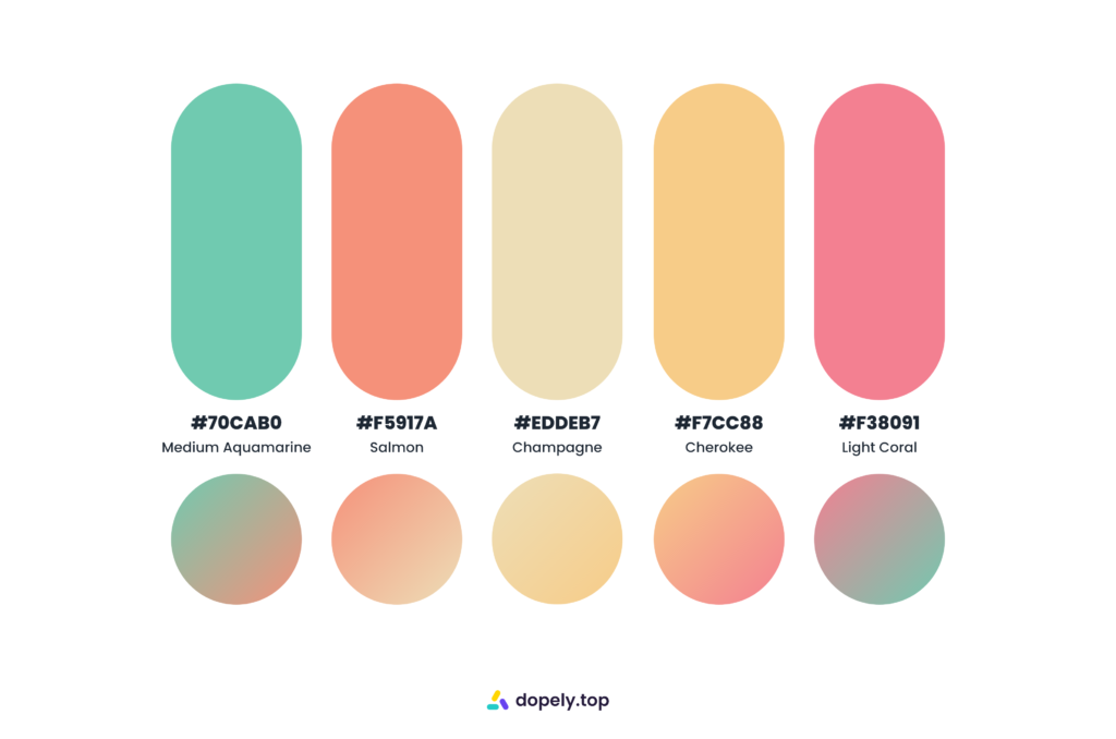 hot sugary color palette by Dopely color palette generator