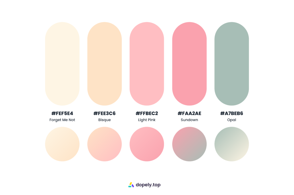 minimal sugary color palette by Dopely color palette generator