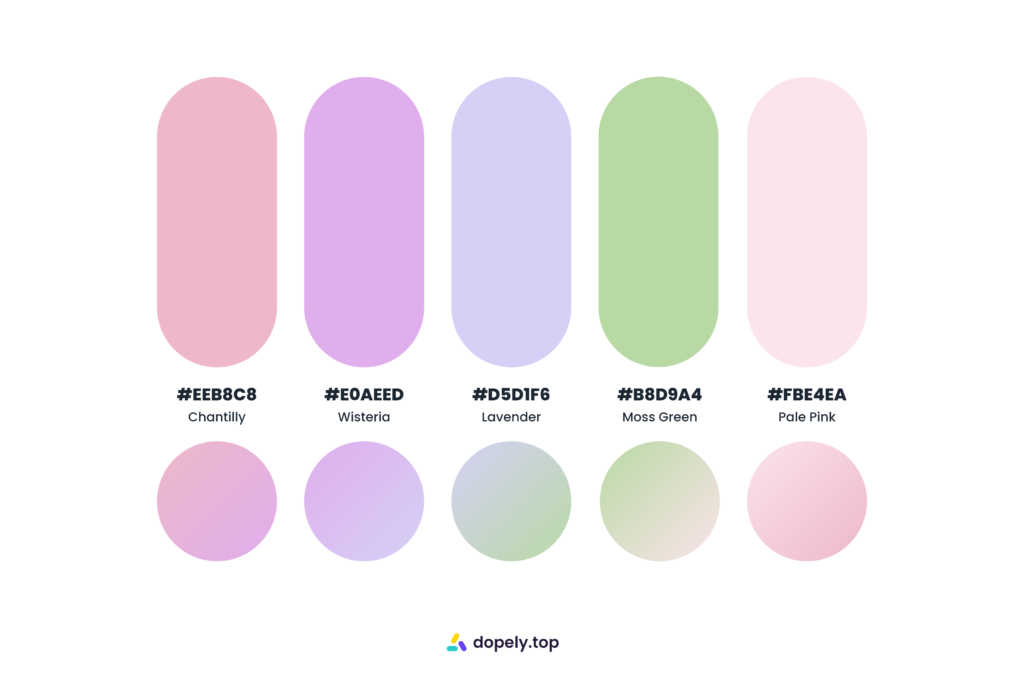 sweet sugary color palette by Dopely color palette generator