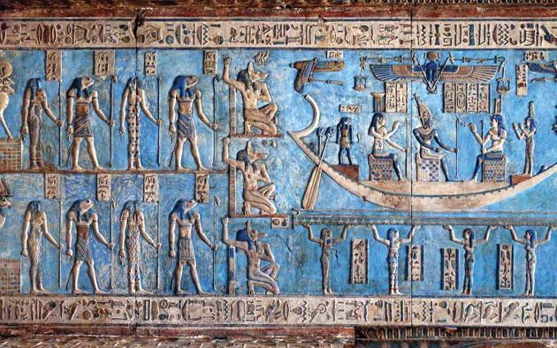 Egyptian colors, blue. ancient Egyptian soldiers painting