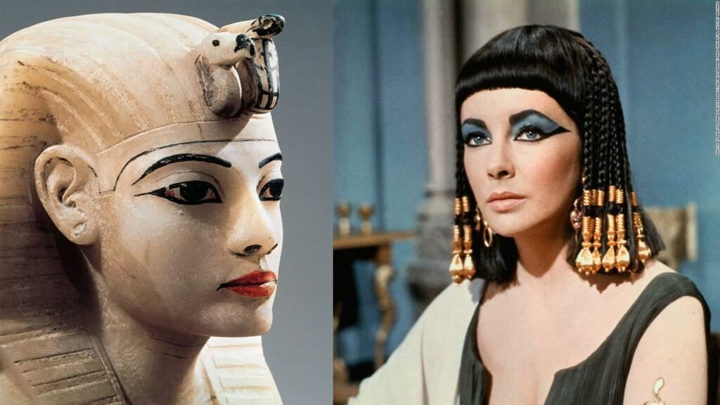 Egyptian makeup. sample of ancient Egypt makeup.