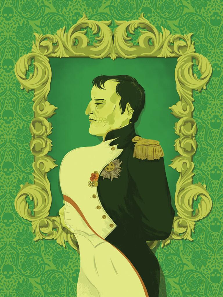the painting of Napoleon Bonaparte in paris green of Lily Nishita