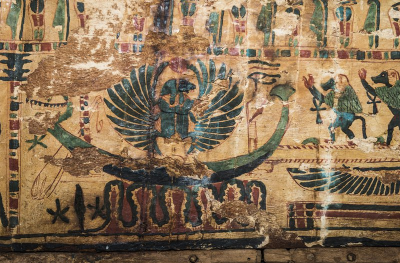 Egyptian colors, green. green color in ancient Egyptian painting