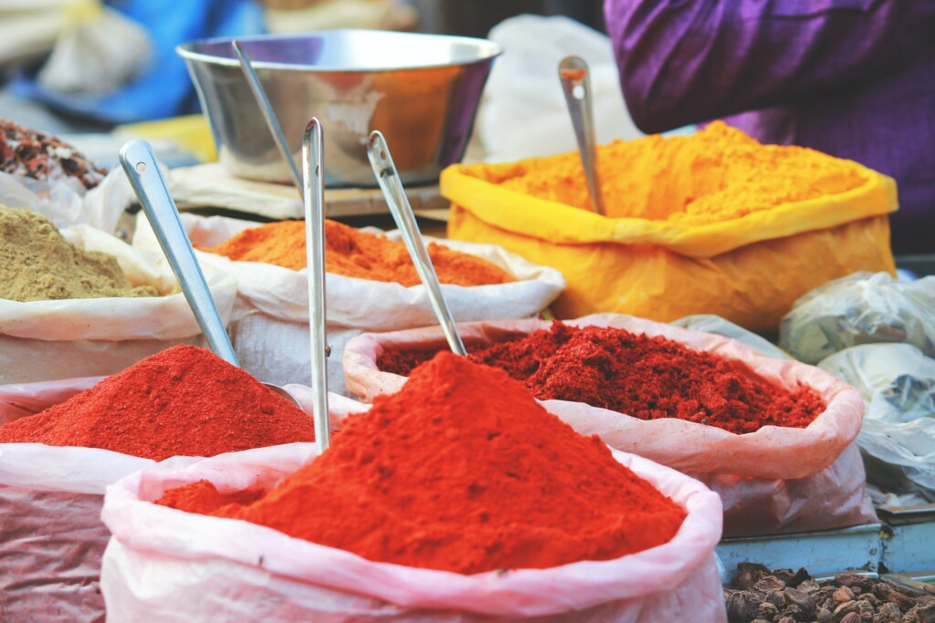 colored powder used to celebrate Holi, which is important in indian culture.